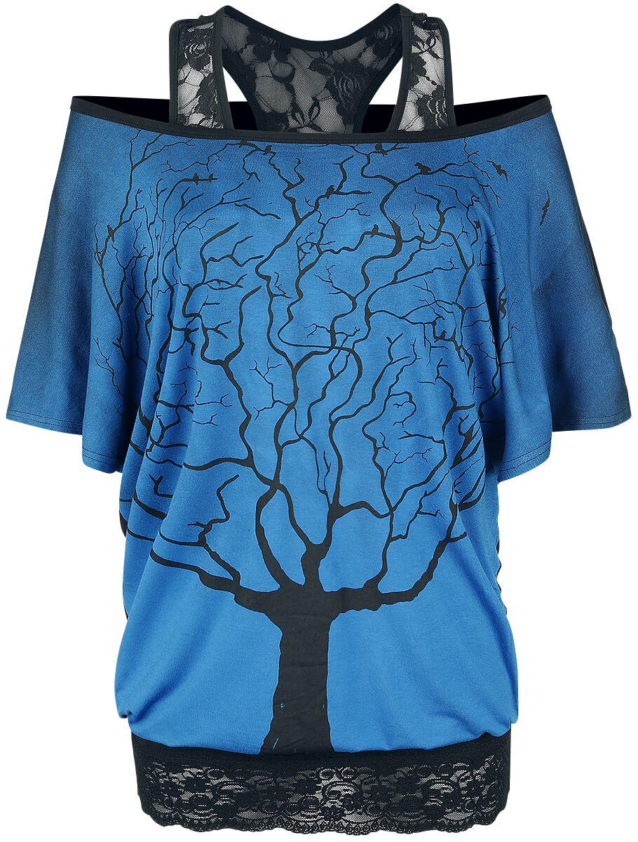Black Premium by EMP One Tree Hill Koszulka damska niebieski/czarny