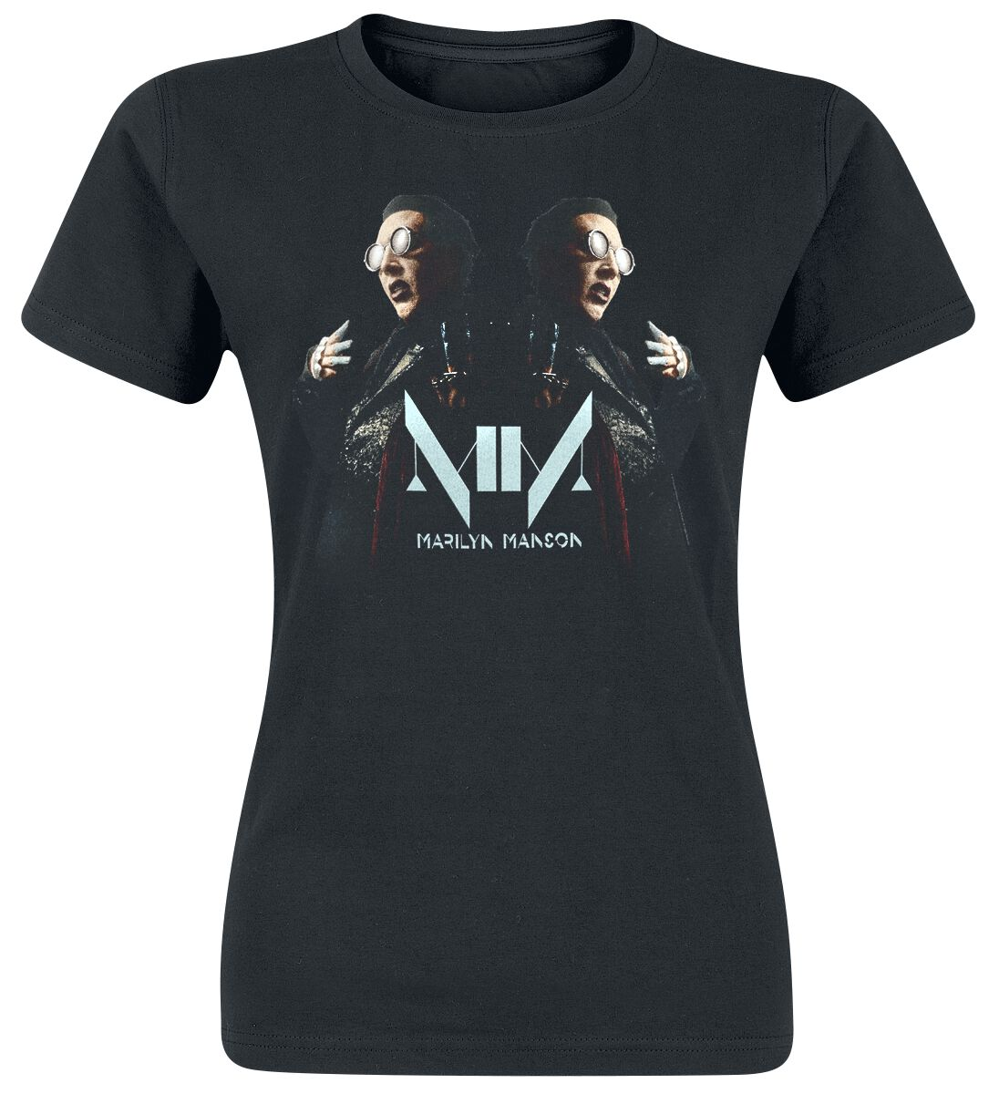 Zespoły - Koszulki - Koszulka damska Marilyn Manson Double Vision Koszulka damska czarny - 368641