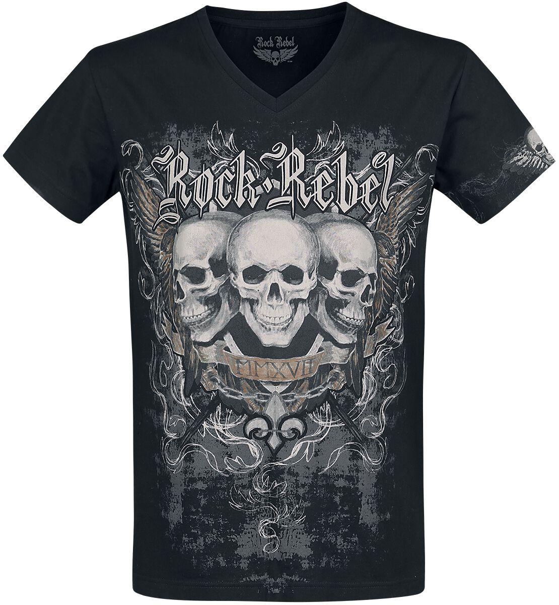 Image of   Rock Rebel by EMP Heavy Soul T-Shirt sort