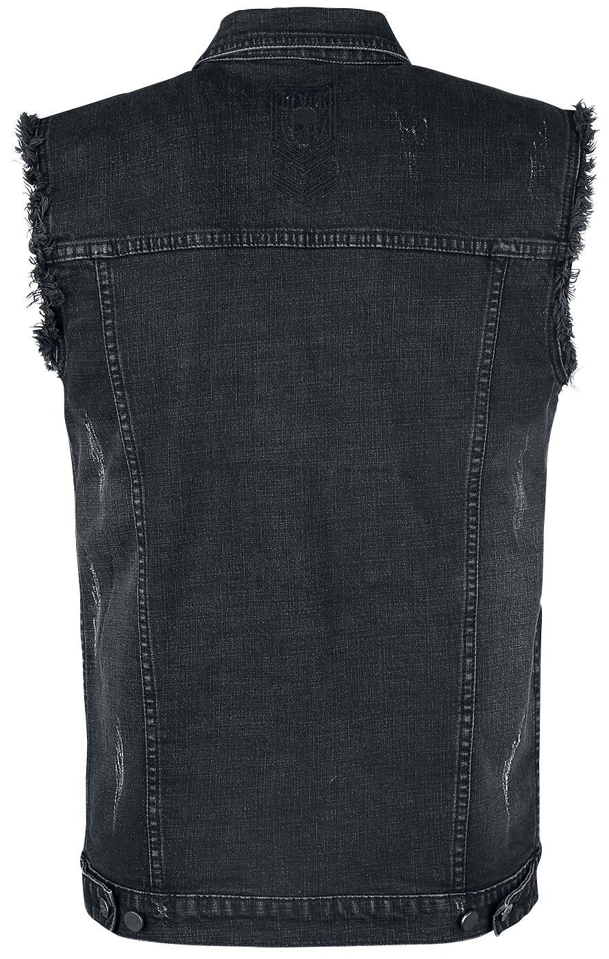 black premium by emp life of an easy rider weste grau ebay. Black Bedroom Furniture Sets. Home Design Ideas