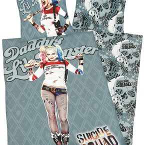 Suicide Squad Daddy's Lil' Monster Parure de lit 1 place multicolore