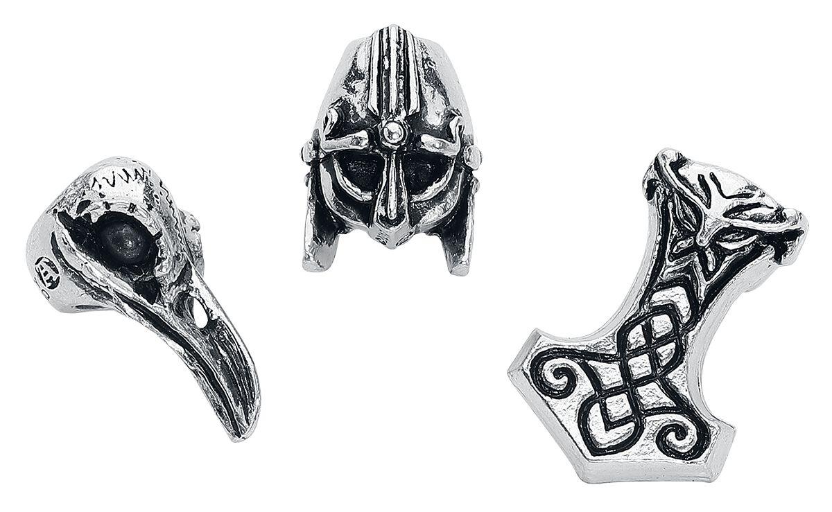 Image of   Alchemy Gothic Norse Hair Beads Hårperler sølvfarvet