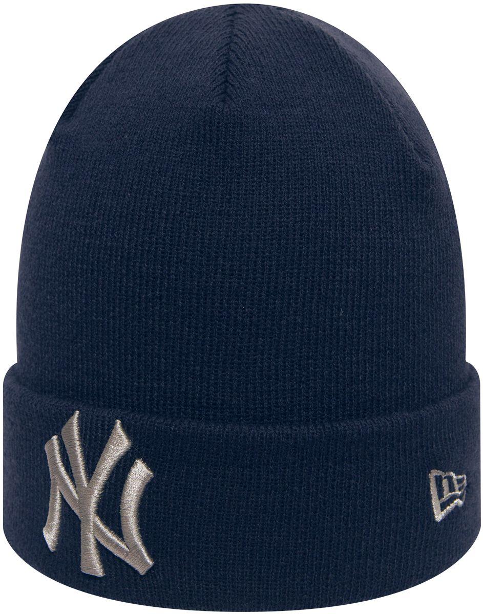 Basics - Czapki i Kapelusze - Beanie New Era League Essential Cuff MLB New York Yankees Beanie granatowy - 368796
