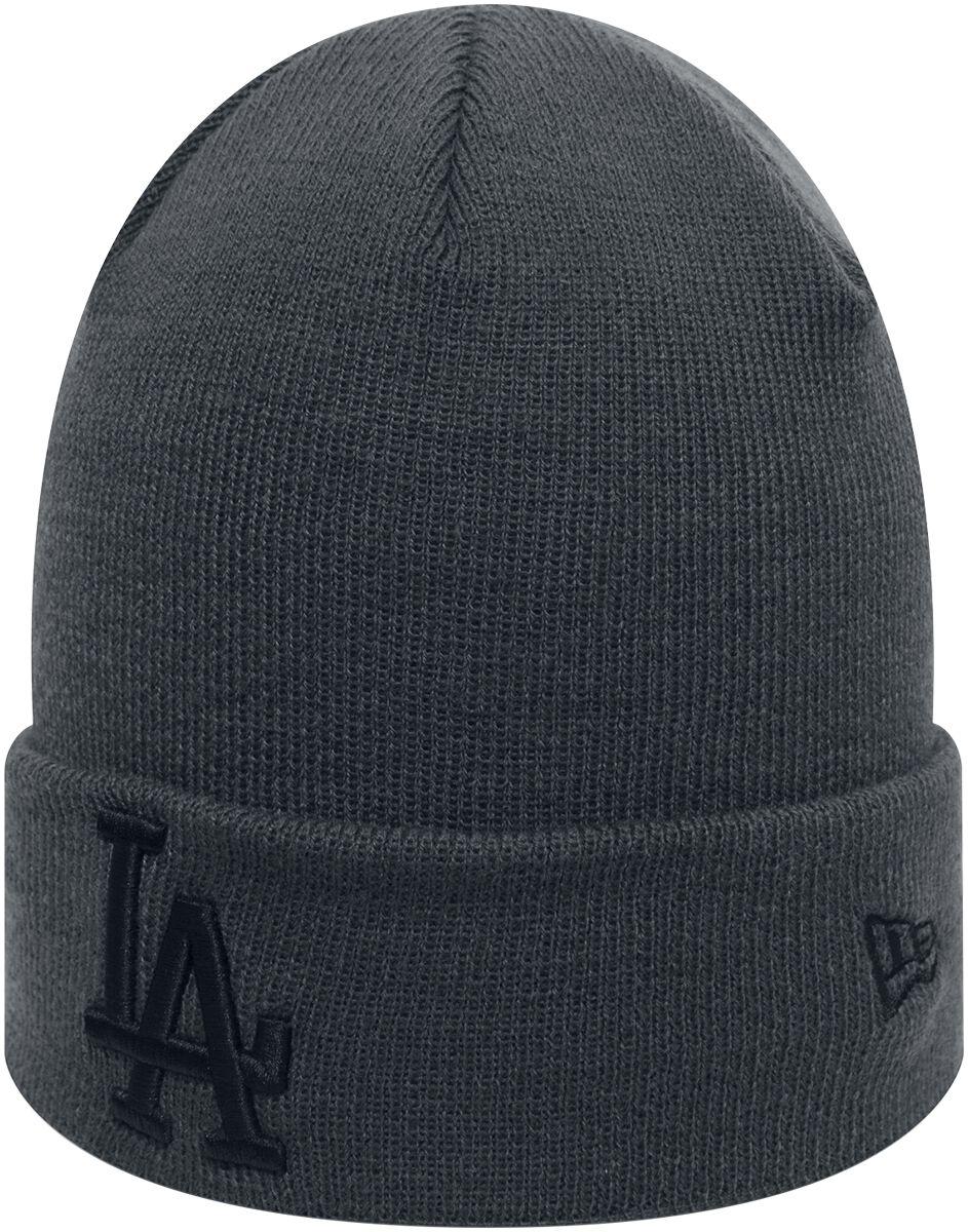 Basics - Czapki i Kapelusze - Beanie New Era League Essential Cuff MLB Los Angeles Dodgers Beanie szary - 368798