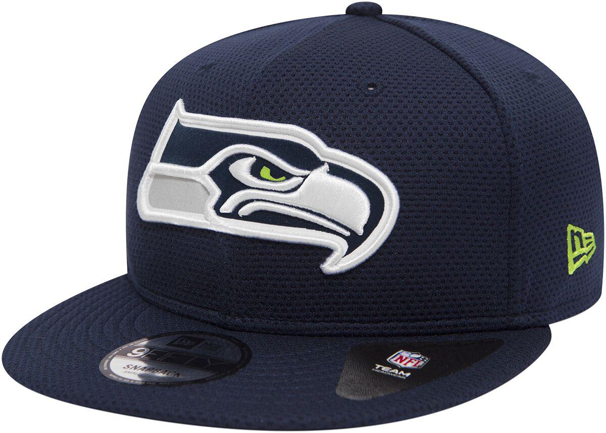 Basics - Czapki i Kapelusze - Czapka New Era New Era 9Fifty Team Mesh NFL Seattle Seahawks Czapka New Era granatowy - 368807
