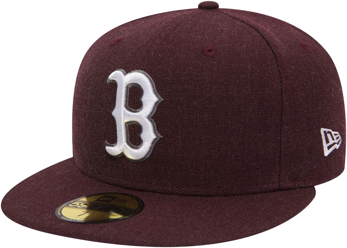Basics - Czapki i Kapelusze - Czapka New Era New Era 59Fifty Seasonal Heather MLB Boston Red Sox Czapka New Era bordowy - 368837