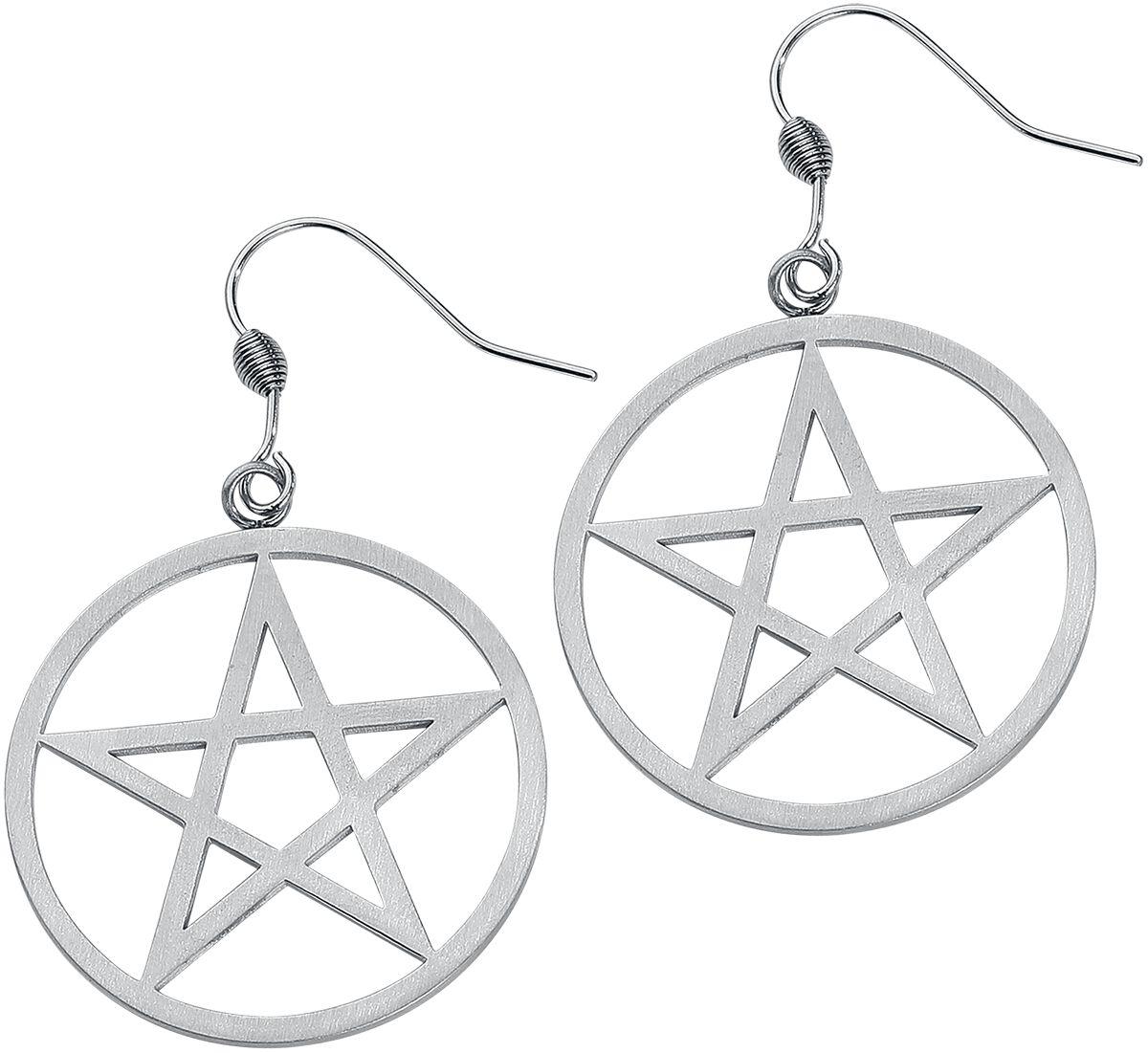 Basics - Kolczyki - Kolczyki etNox Hard and Heavy Pentagram Kolczyki srebrny - 368856