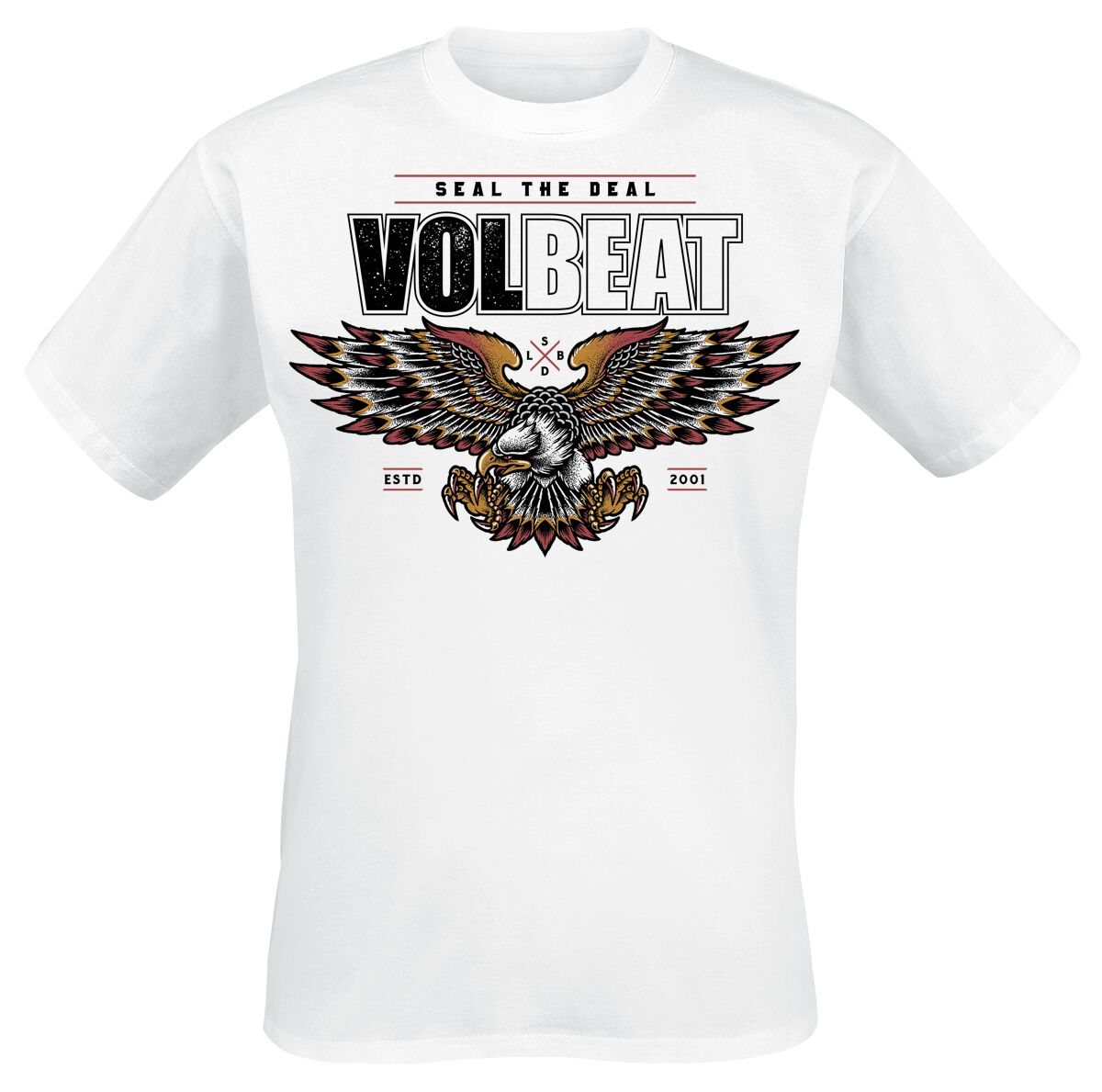 Image of   Volbeat Victorious T-Shirt hvid