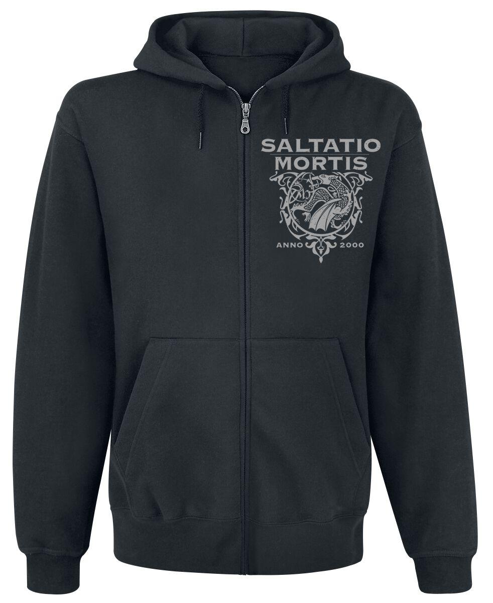 Zespoły - Bluzy z kapturem - Bluza z kapturem rozpinana Saltatio Mortis Dragon Triangle Bluza z kapturem rozpinana czarny - 368890