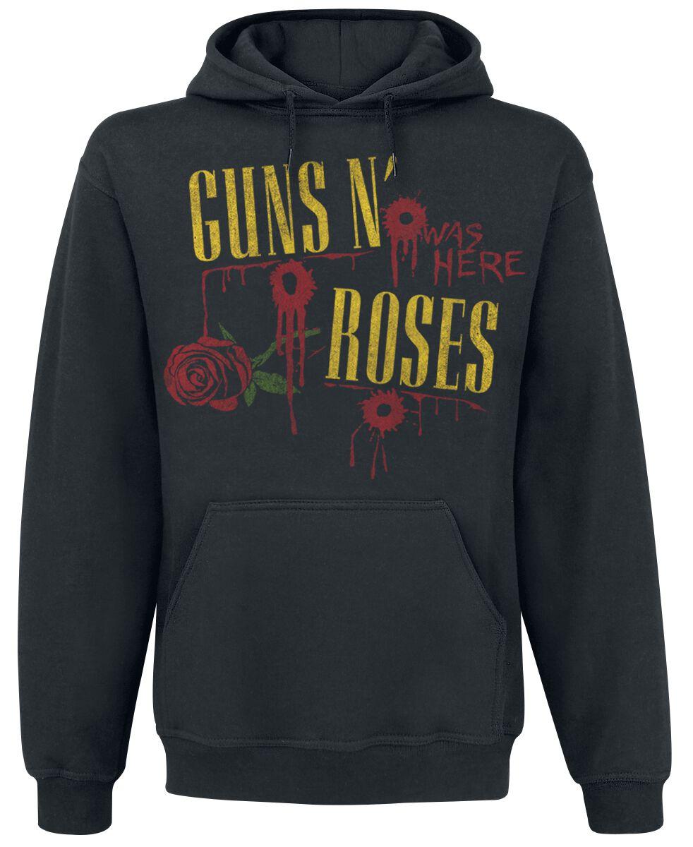 Image of   Guns N' Roses Ripped Through Hættetrøje sort