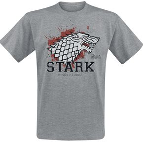 Game Of Thrones House Stark - Stark The Fighter T-shirt gris chiné
