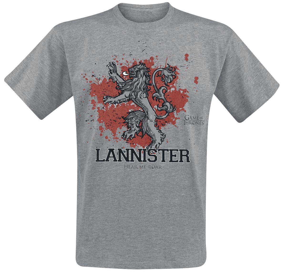 Image of   Game Of Thrones House Lannister - Lannister The Fighter T-Shirt grålig