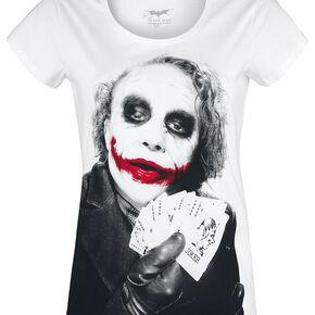 Le Joker Poker Joker T-shirt Femme blanc