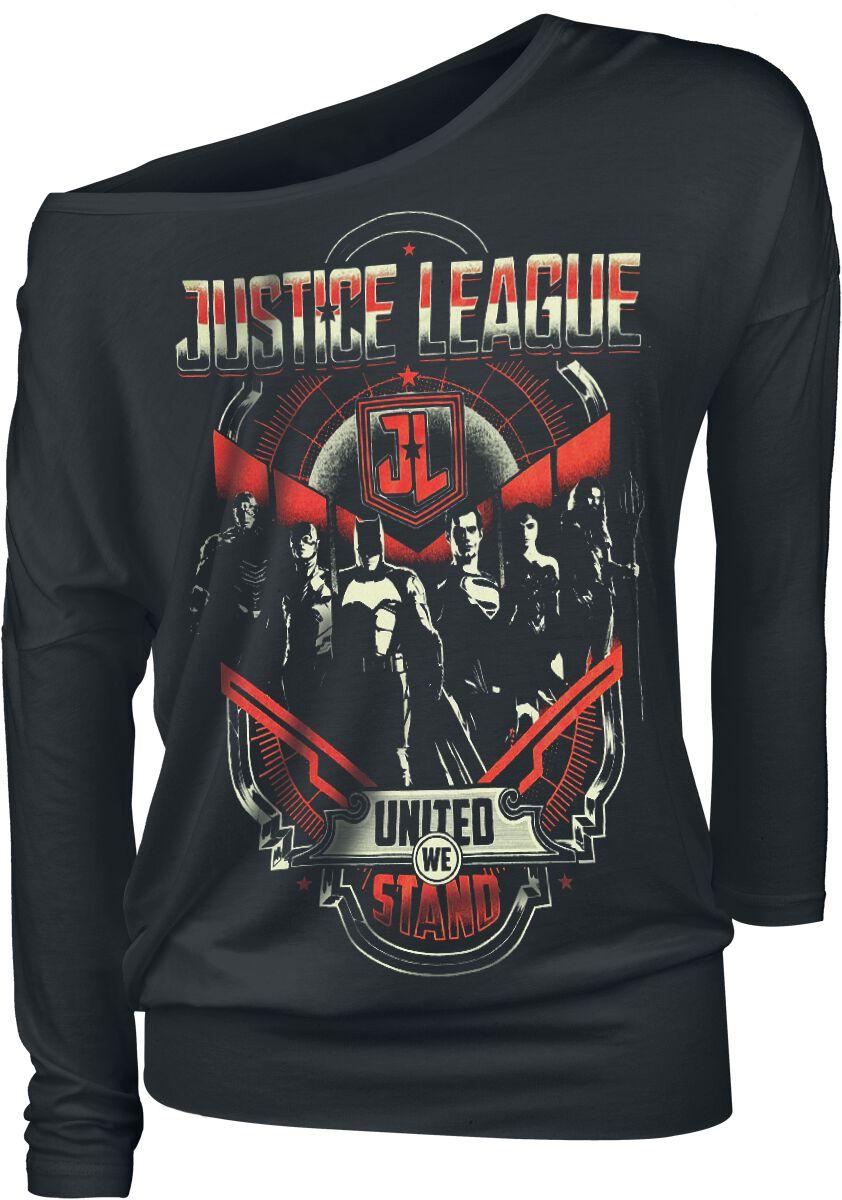 Image of   Justice League United We Stand Girlie langærmet sort