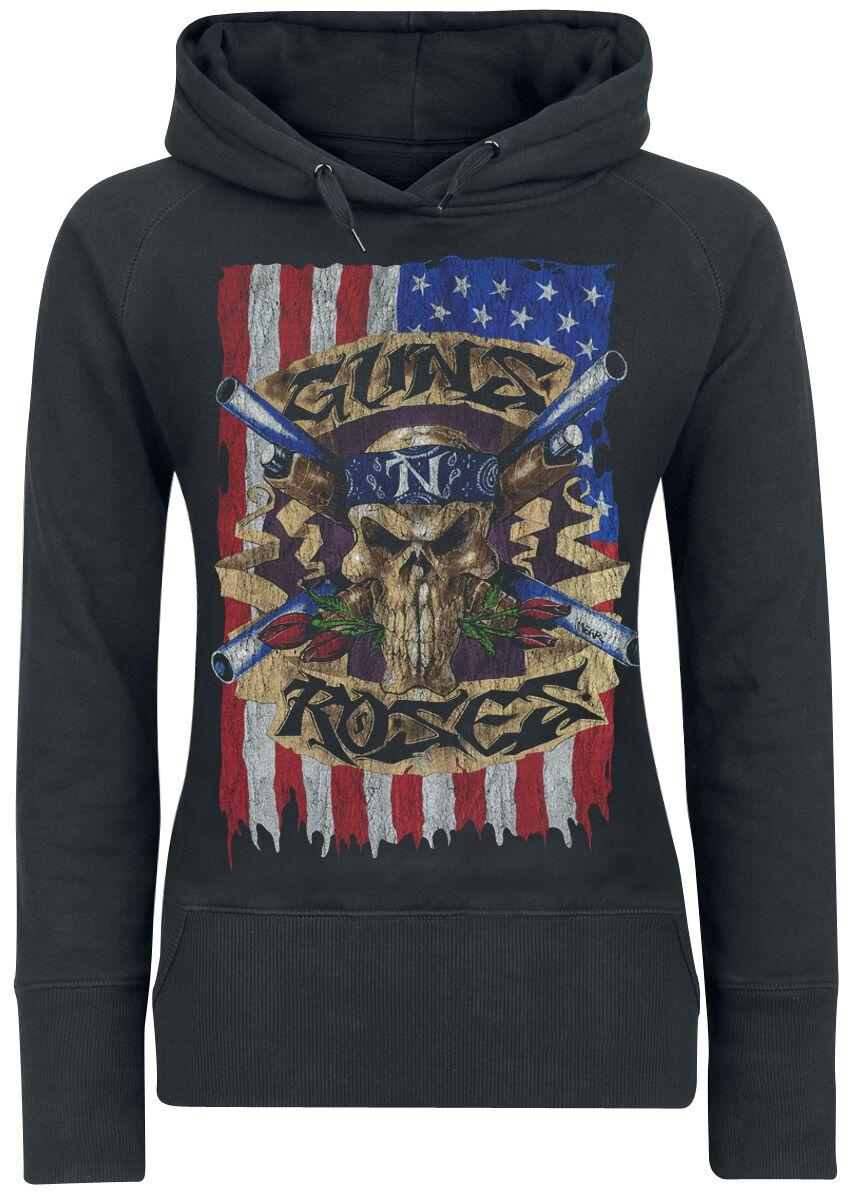 Image of   Guns N' Roses Skull Flag Girlie hættetrøje sort