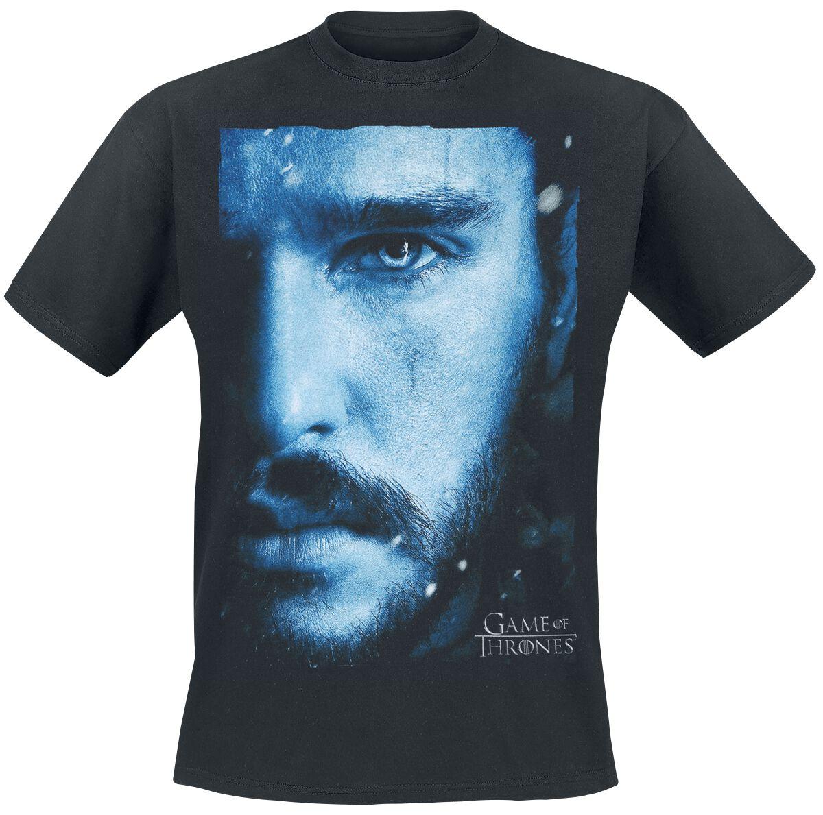 Image of   Game Of Thrones Jon Snow - Rising Snow T-Shirt sort