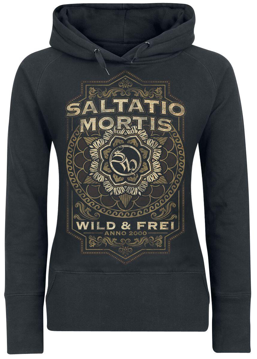 Zespoły - Bluzy z kapturem - Bluza z kapturem damska Saltatio Mortis Flourish Mandala Bluza z kapturem damska czarny - 368965