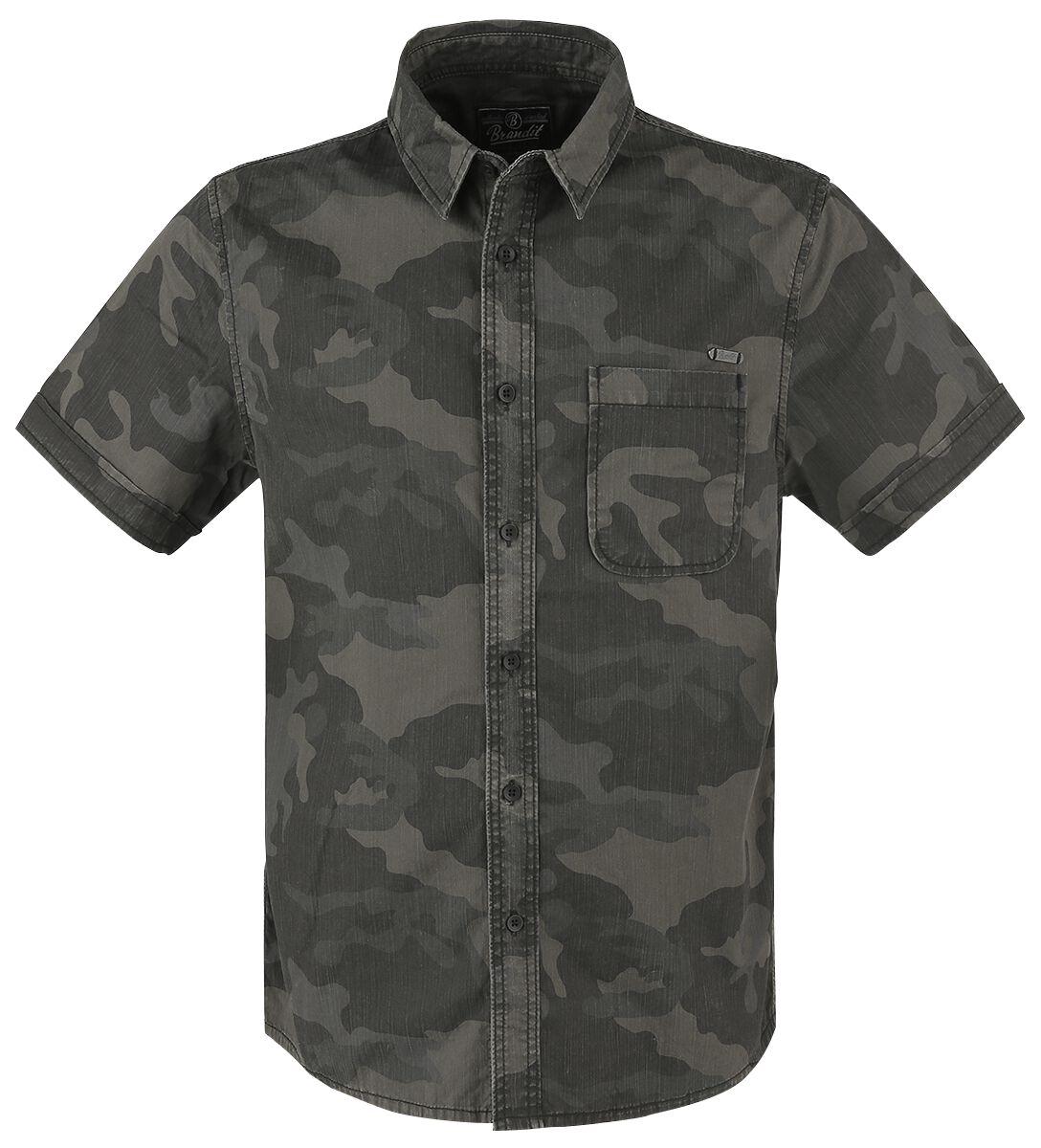 Image of   Brandit Josh Shirt Skjorte mørk camo