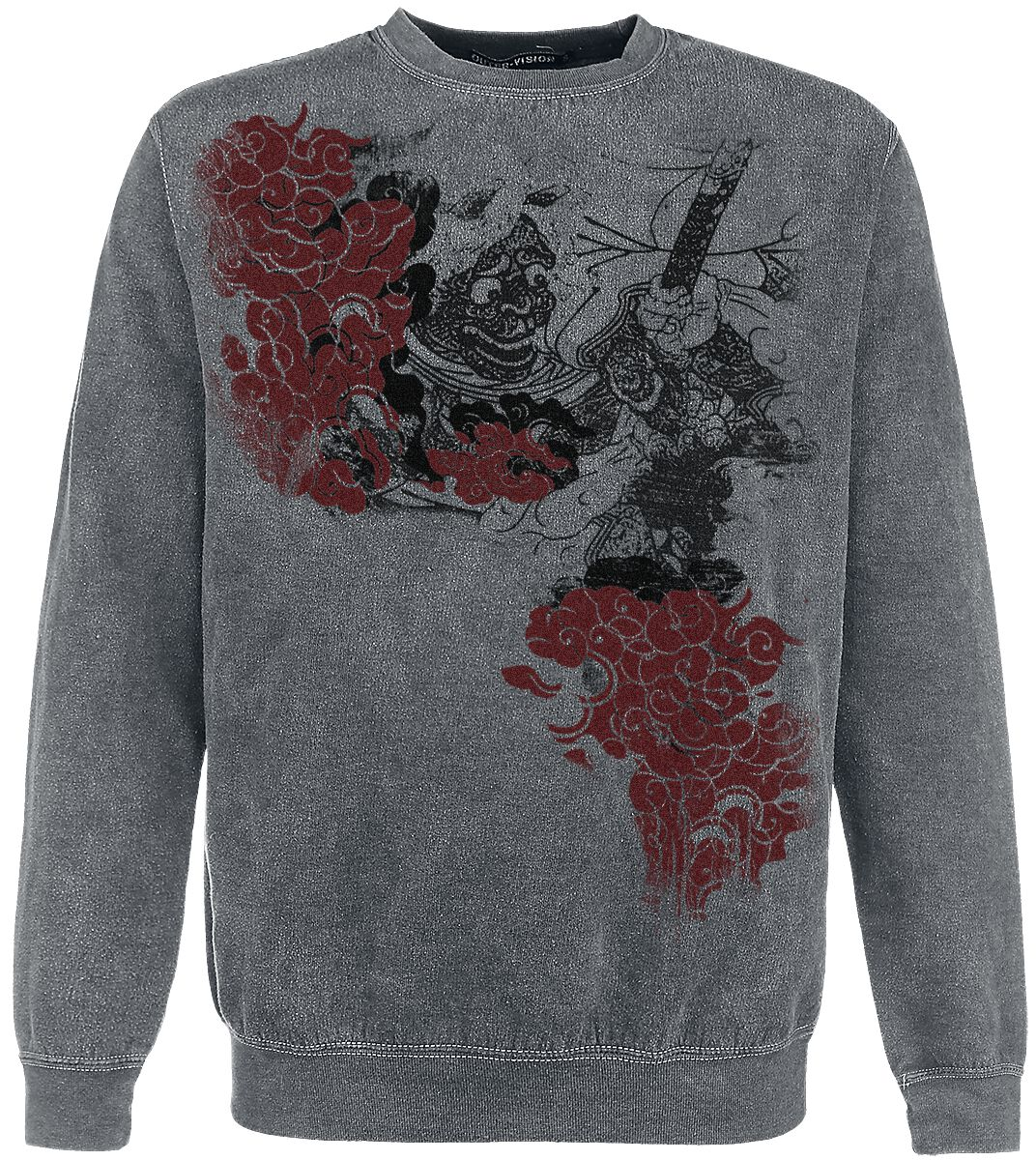 Image of   Outer Vision Demon Tattoo Sweatshirt grå