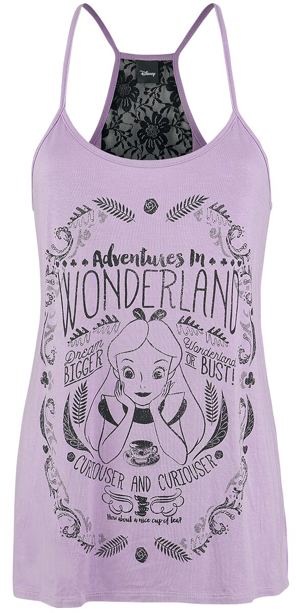 Image of   Alice i Eventyrland Eventyr i Eventyrland Girlie top violet-sort
