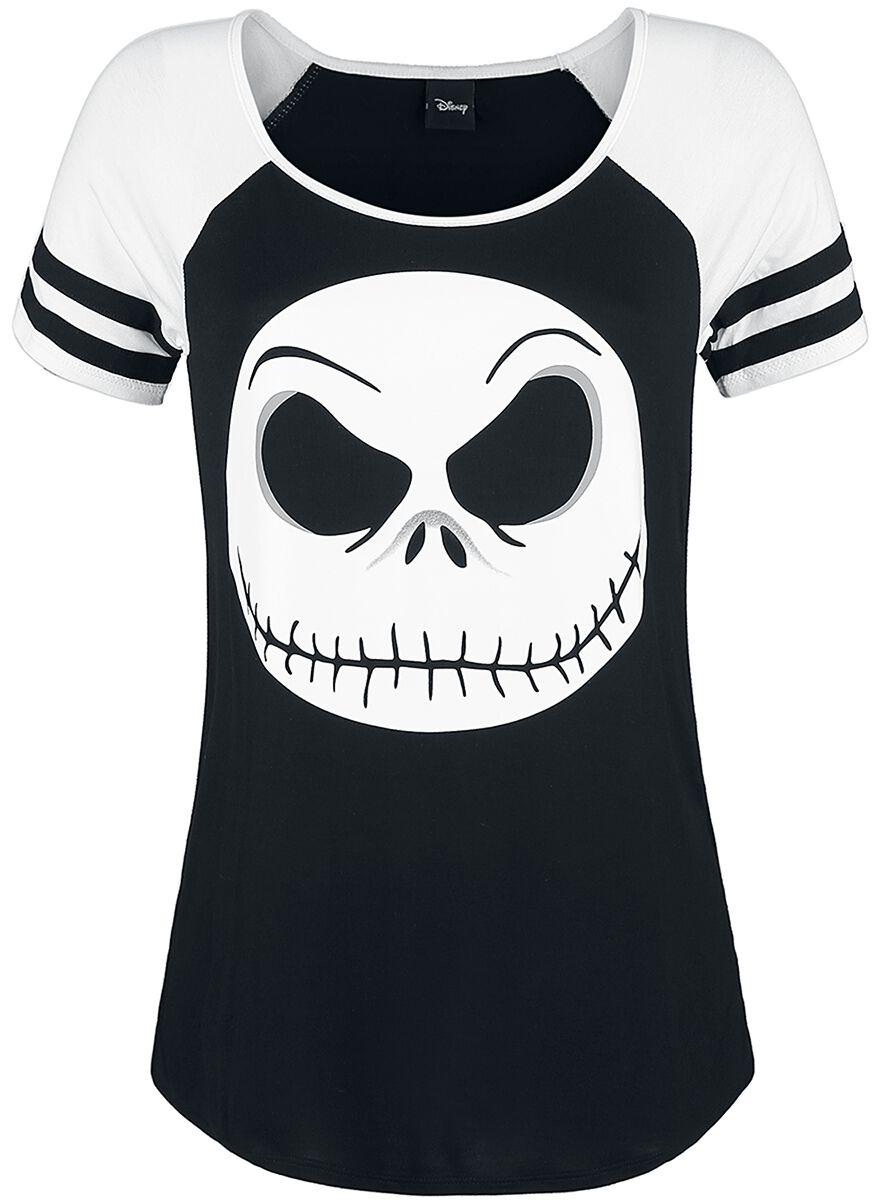Image of   The Nightmare Before Christmas Jack Face Girlie trøje sort-hvid