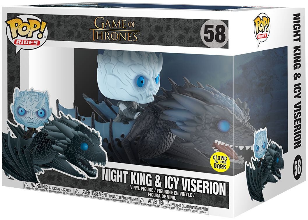 Game Of Thrones Figurine En Vinyle Le Roi De La Nuit Et Viserion Spectre 58 Figurine de collection Standard