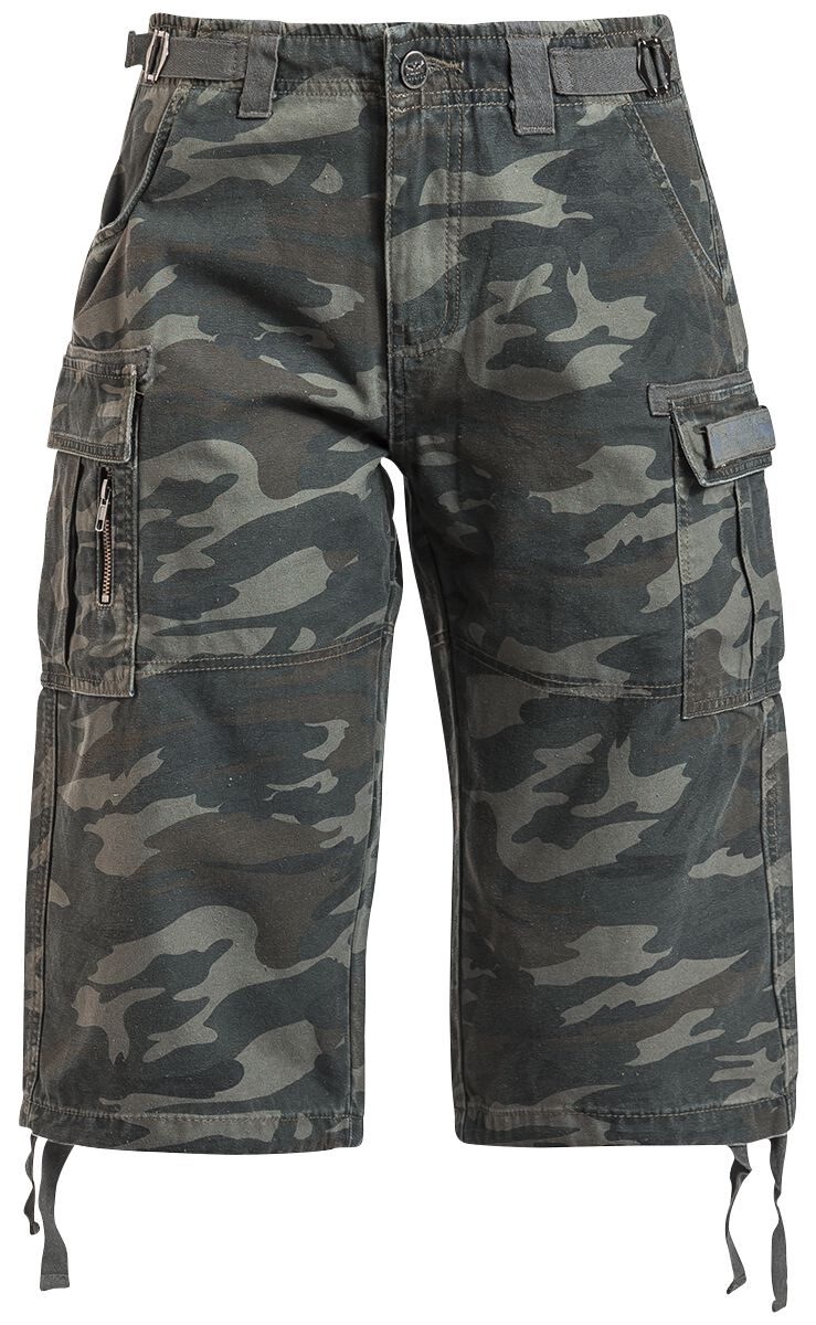 Image of   Black Premium by EMP Army Vintage Shorts Girlie shorts camouflage