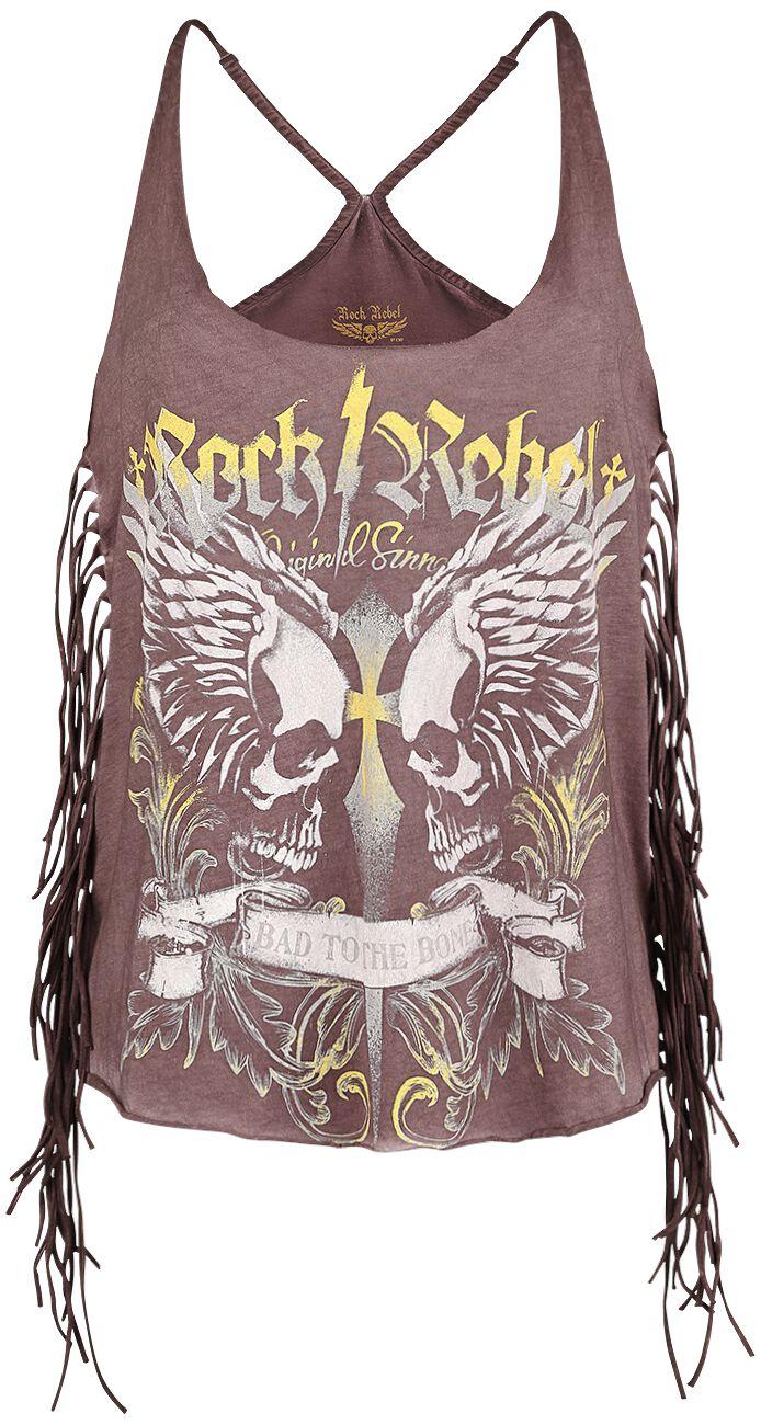 Image of   Rock Rebel by EMP Headless Cross Girlie top rød