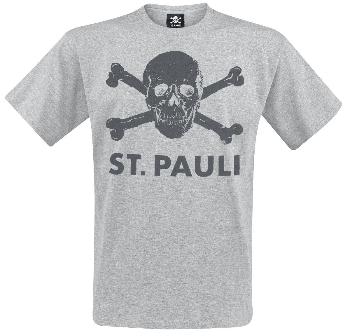 FC St. Pauli Totenkopf T-Shirt grau