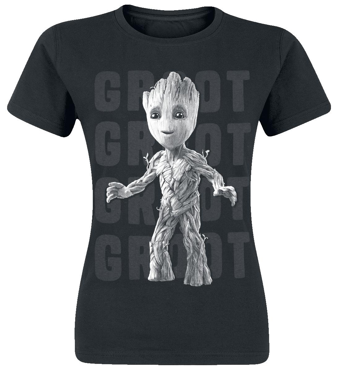 Guardians Of The Galaxy 2 - Groot Photo Koszulka damska czarny