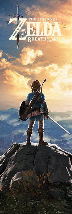 Image of   The Legend Of Zelda Breath Of The Wild - Sunset Dørplakat multifarvet