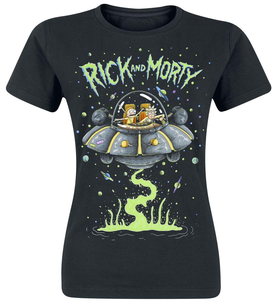 Image of   Rick And Morty Spaceship Girlie trøje sort