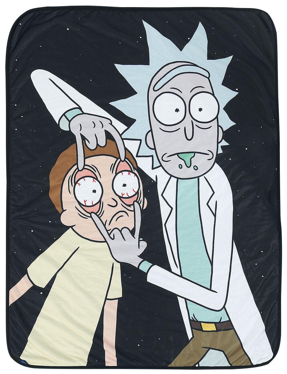 Image of   Rick And Morty Fleecetæppe Fleecetæppe multifarvet