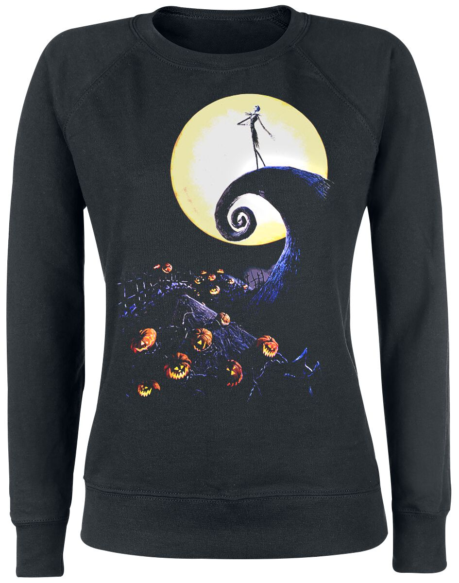 Image of   The Nightmare Before Christmas Jack Szene Girlie sweatshirt sort