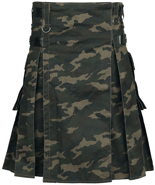 Image of   Gothicana by EMP Kilt Kilt camouflage