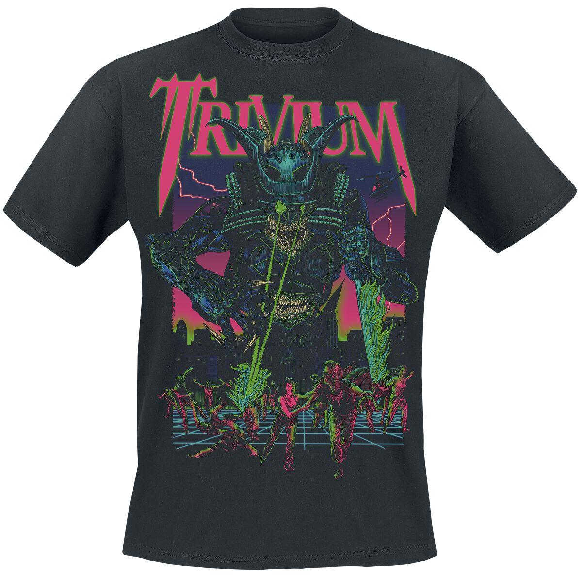 Zespoły - Koszulki - T-Shirt Trivium Alien Metal T-Shirt czarny - 369577