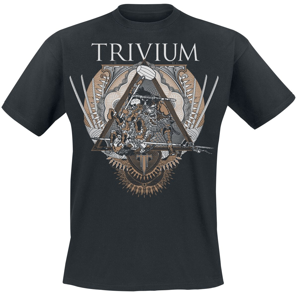 Zespoły - Koszulki - T-Shirt Trivium Triangular War T-Shirt czarny - 369583