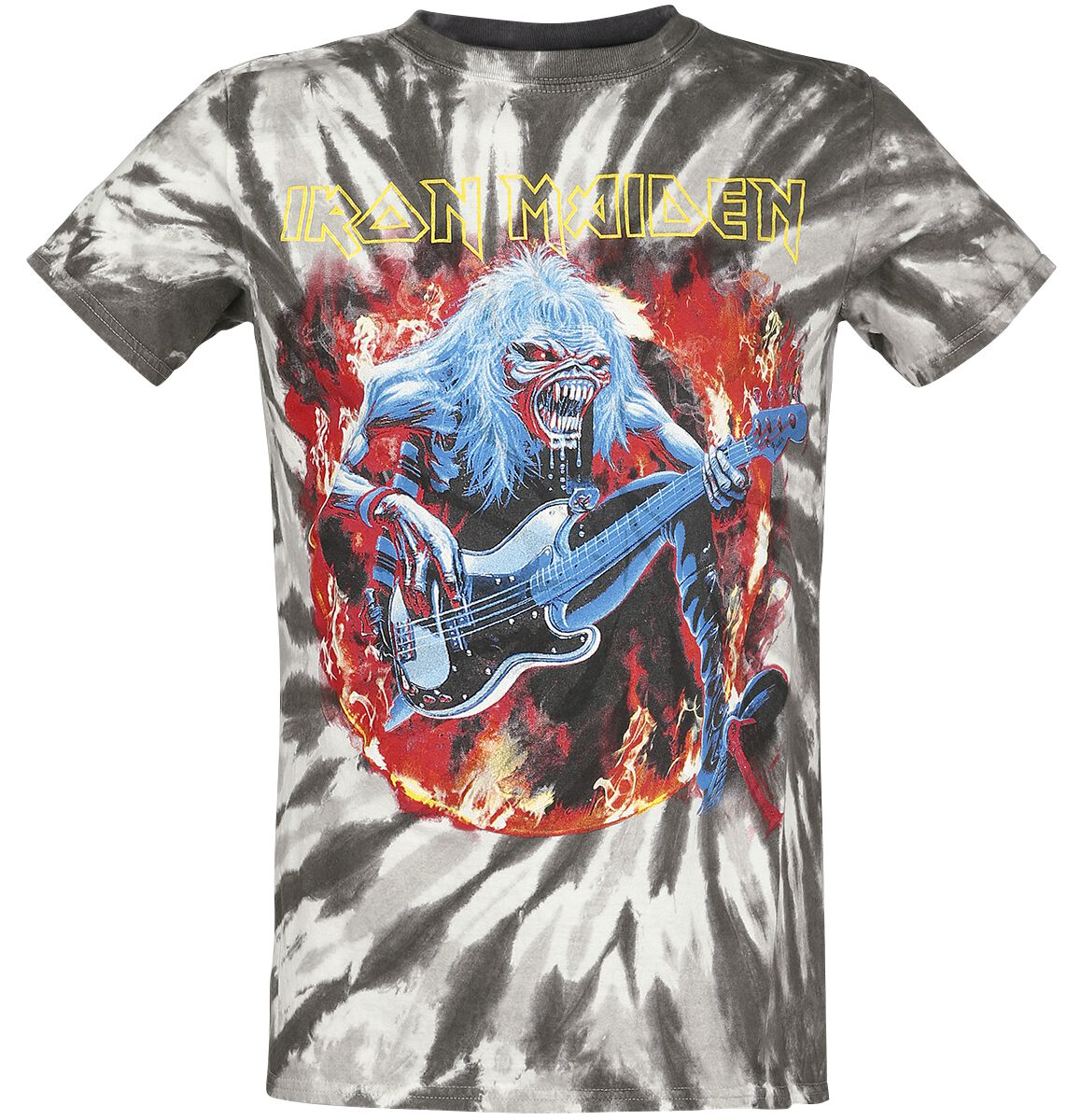 Image of   Iron Maiden Eddie Bass T-Shirt grå-sort