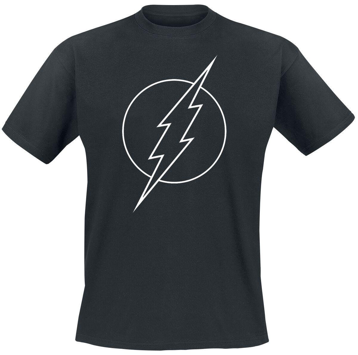 Merch dla Fanów - Koszulki - T-Shirt The Flash Logo T-Shirt czarny - 369621