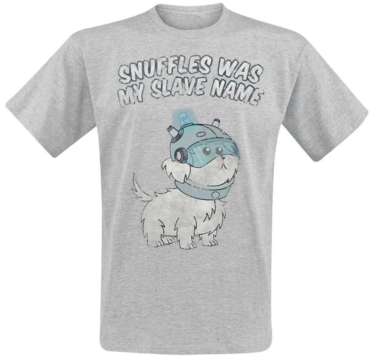 Image of   Rick And Morty Snuffles T-Shirt grålig