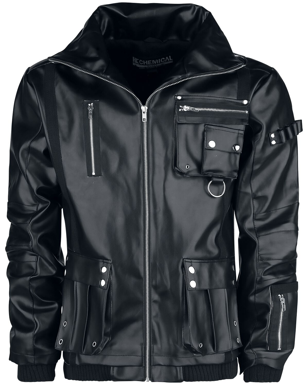 Marki - Kurtki - Kurtka Chemical Black Arsen PU Jacket Kurtka czarny - 369631