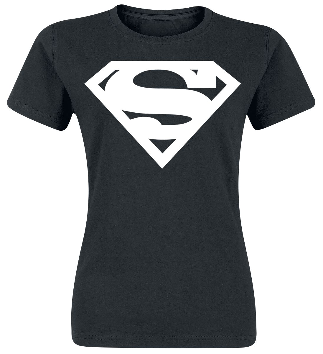 Merch dla Fanów - Koszulki - Koszulka damska Superman Logo Koszulka damska czarny - 369652