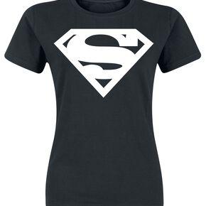 Superman Logo T-shirt Femme noir