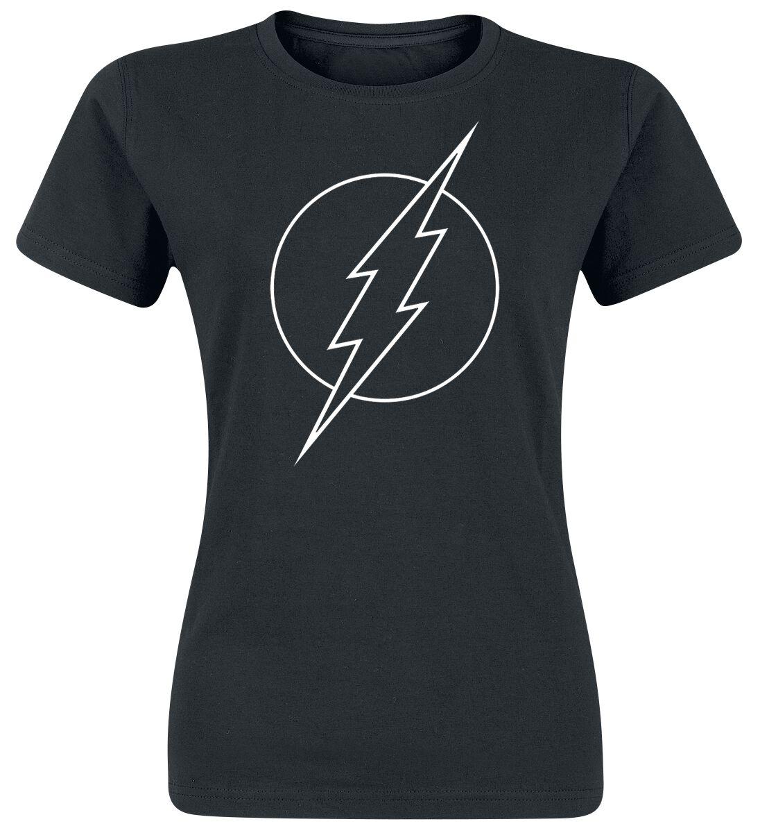 Merch dla Fanów - Koszulki - Koszulka damska The Flash Logo Koszulka damska czarny - 369655