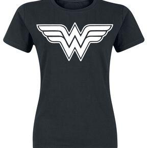 Wonder Woman Logo T-shirt Femme noir