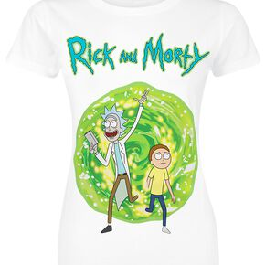 Rick & Morty Portail T-shirt Femme blanc