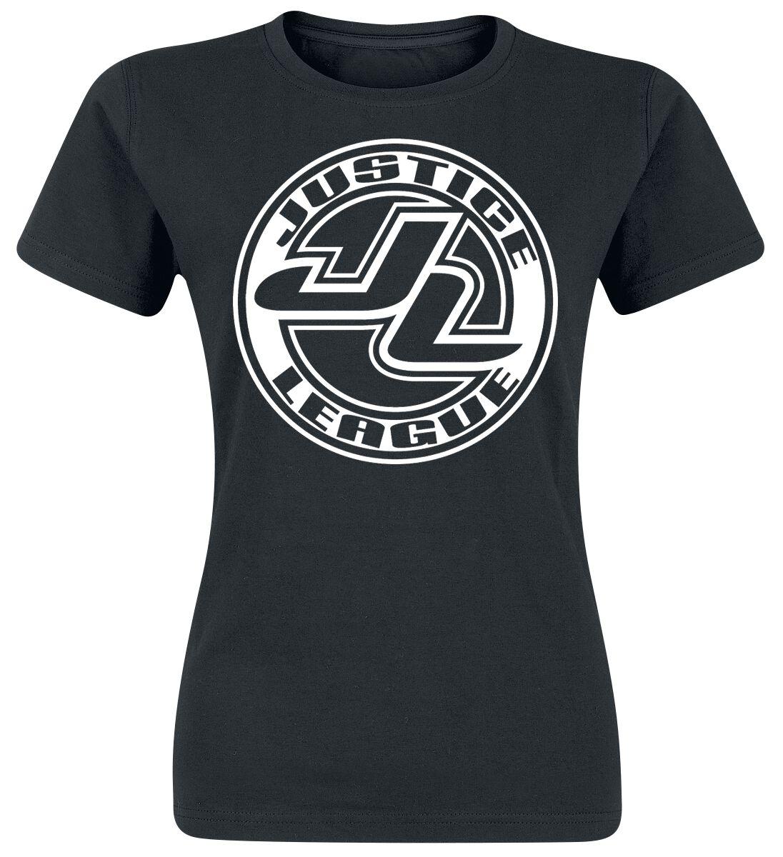 Image of   Justice League Logo Girlie trøje sort