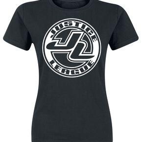 Justice League Logo T-shirt Femme noir