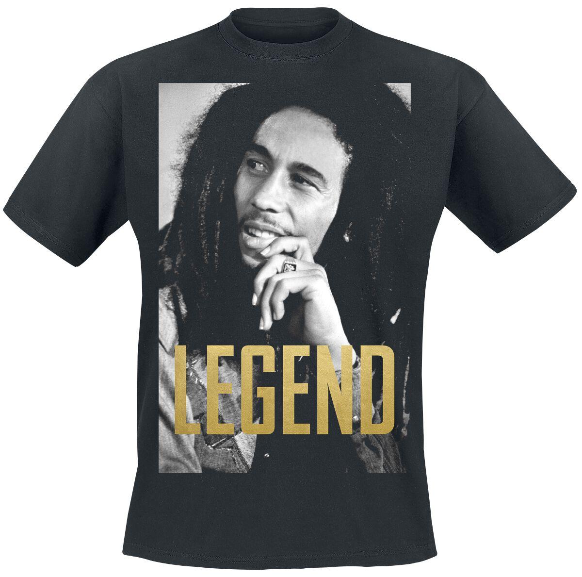 Zespoły - Koszulki - T-Shirt Bob Marley Legend Portrait T-Shirt czarny - 369708