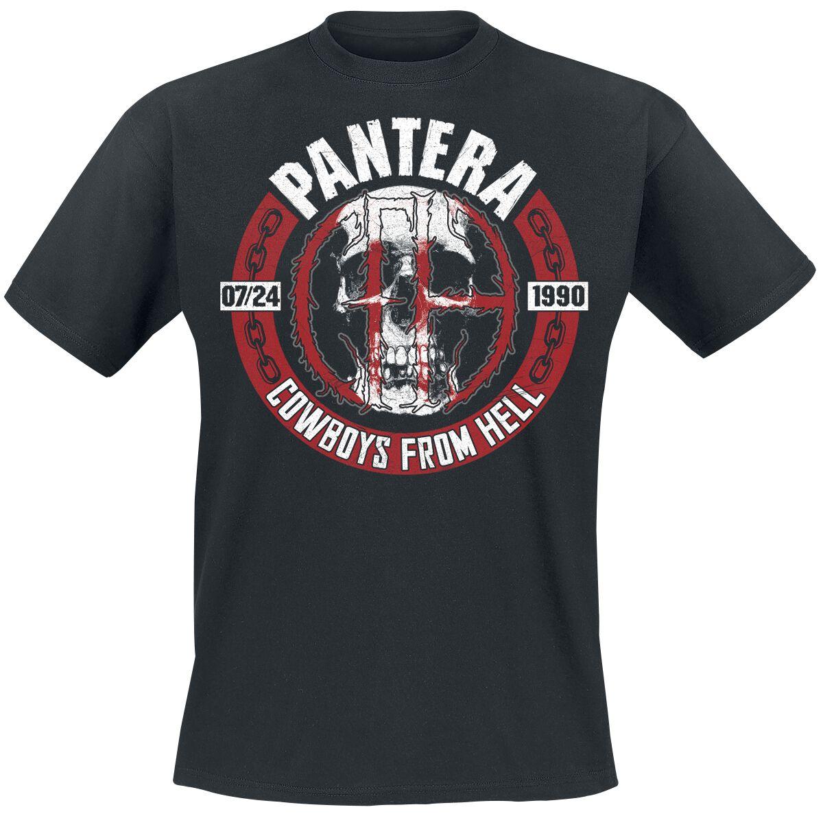 Zespoły - Koszulki - T-Shirt Pantera Skull Circle T-Shirt czarny - 369715